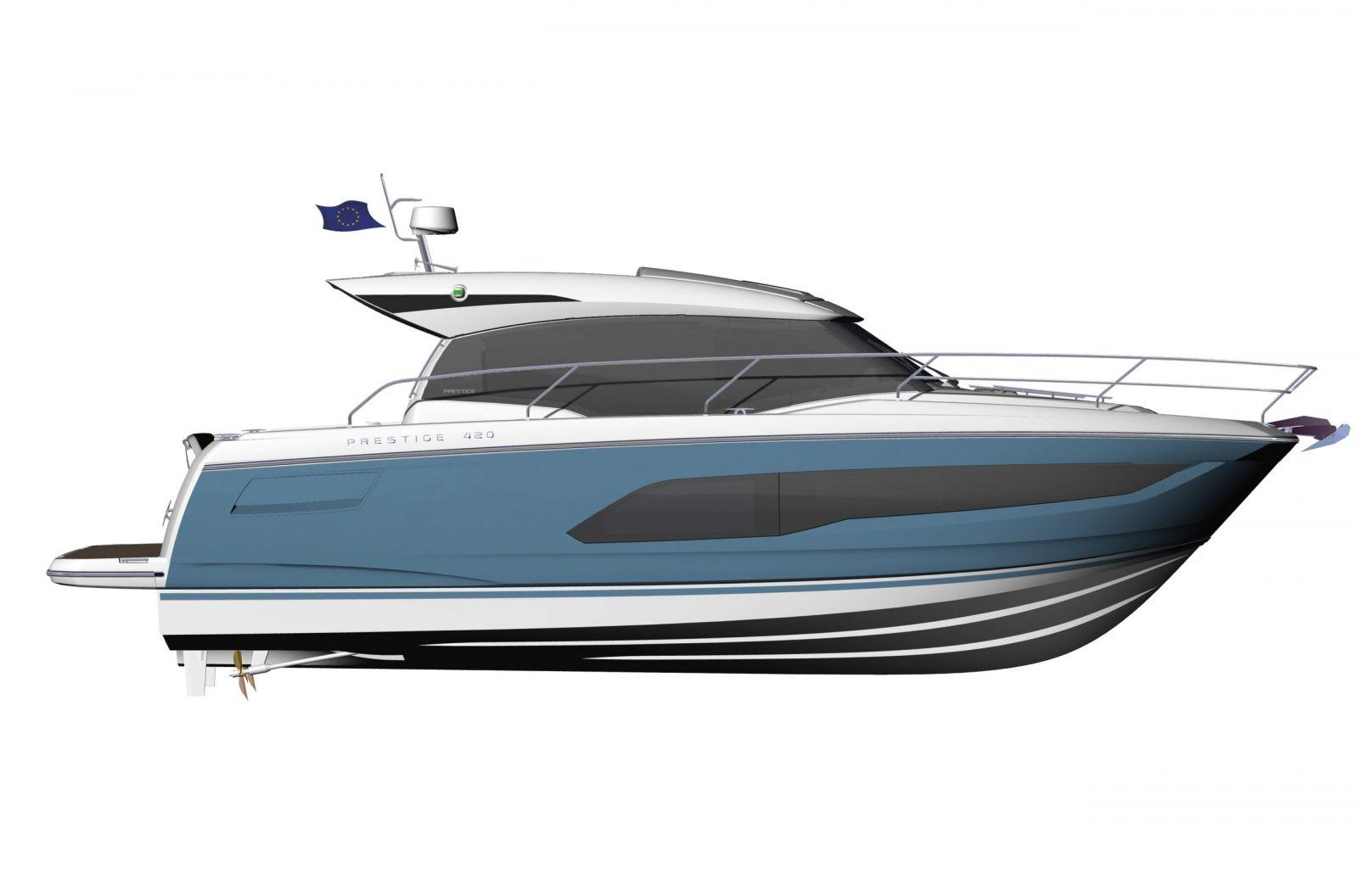 PRESTIGE-420S---Profil---Blue-hull-