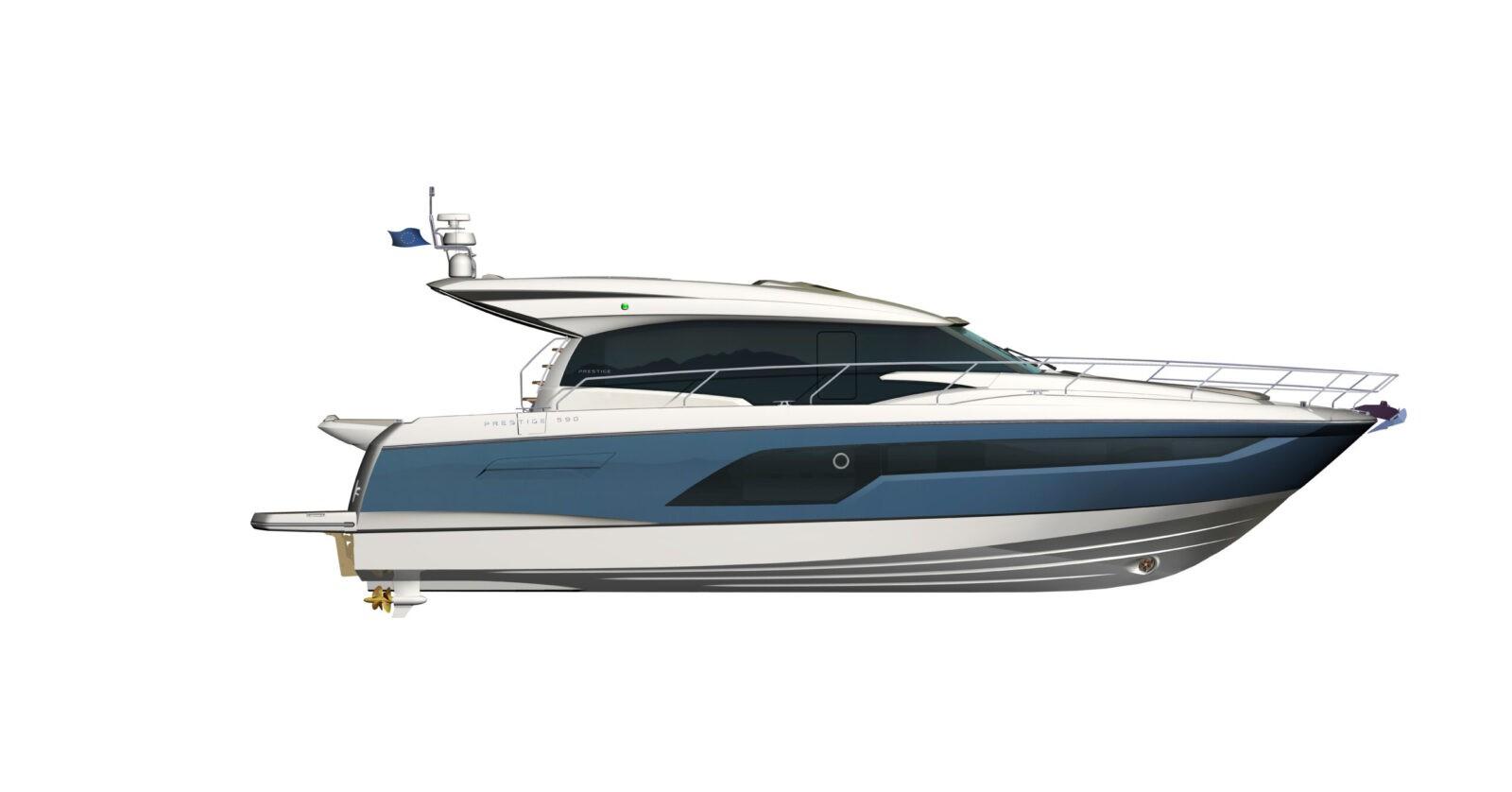 PRESTIGE-590S---Profile---Blue-hull-